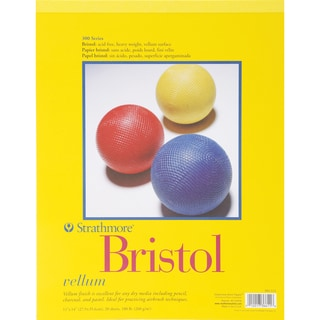 Strathmore Bristol Vellum Paper Pad 11inX14in20 Sheets