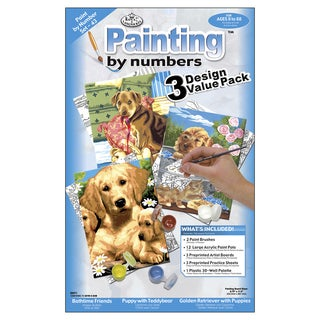 Junior Small Paint By Number Kit 8.75inX11.75in 3/PkgDogs