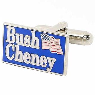 Silvertone George W. Bush 2004 Election Cufflinks