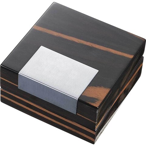 Visol Kadar Ebony Finish Jewelry Wooden Gift Box with Double Sided Pad