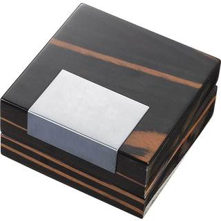Visol Kadar Ebony Finish Jewelry Wooden Gift Box with Double Sided Pad