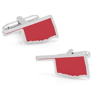 Silvertone Red Oklahoma Cufflinks