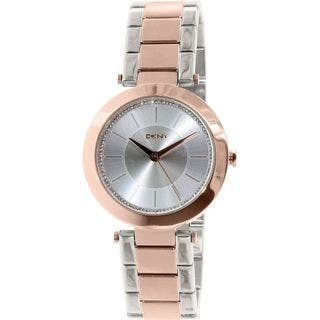 DKNY Women's NY2335 'Stanhope' Crystal Two-Tone Stainless Steel Watch|https://ak1.ostkcdn.com/images/products/10547553/P17627486.jpg?impolicy=medium