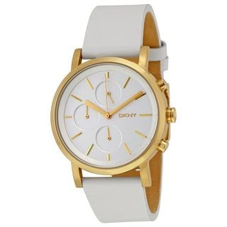 DKNY Women's NY2337 'Soho' Chronograph White Leather Watch