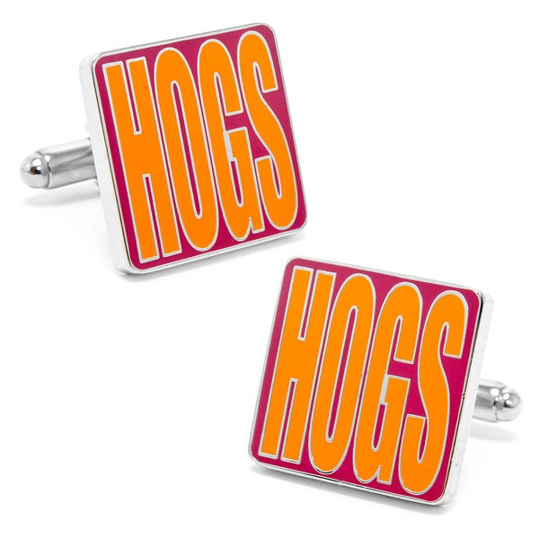 Shop Silvertone Redskins Hogs Cufflinks Free Shipping On Orders