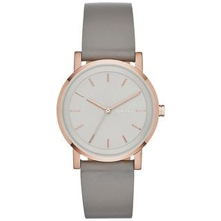 DKNY Women's NY2341 'Soho' Grey Leather Watch