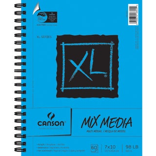 Canson XL Spiral MultiMedia Paper Pad 7inX10in60 Sheets