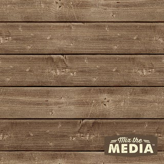 Mix The Media Wooden Plank Plaque10inX10in