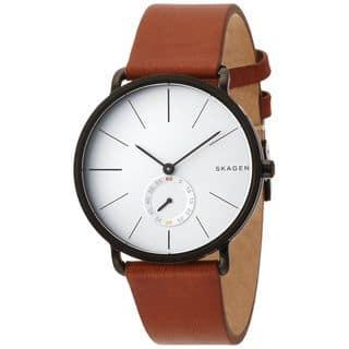 Skagen Men's SKW6216 'Hagen' Brown Leather Watch|https://ak1.ostkcdn.com/images/products/10547608/P17627473.jpg?impolicy=medium