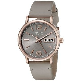 Marc Jacobs Women's MBM1385 'Fergus' Grey Leather Watch