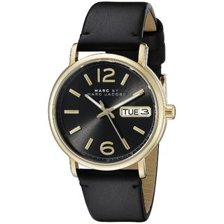 Marc Jacobs Women's MBM1388 'Fergus' Black Leather Watch