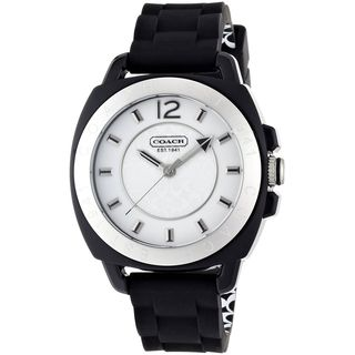 Coach Women's 14501353 'Boyfriend' Black Silicone Watch