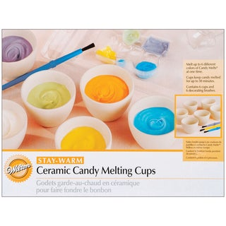 Ceramic Candy Melting Cups & Bowls2inX1.5in 6/Pkg