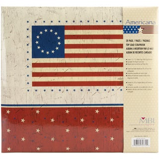 American Flag Post Bound Album 12inX12in