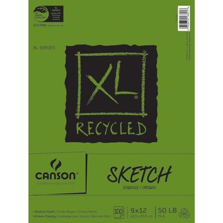 Canson XL Recycled Sketch Paper Pad 9inX12in100 Sheets