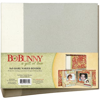 Bo Bunny 3Ring Bare Naked Binder 9inX9inW/6 Chipboard Pages