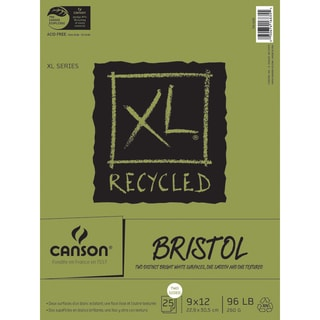 Canson XL Recycled Bristol Paper Pad 9inX12in25 Sheets