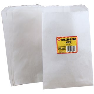 Pinch Bottom Paper Bags 6inX9in 100/PkgWhite