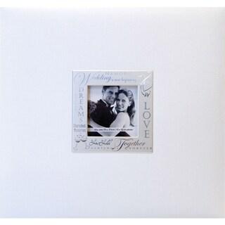 Expressions Post Bound Album 8inX8inWedding White