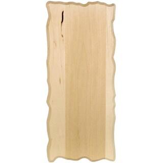 Basswood Rustic Rectangle Plaque6inX14inX.75in