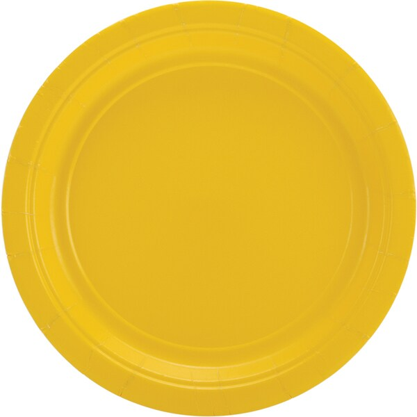 Big Party Pack Luncheon Plates 7in 50/PkgSunshine Yellow