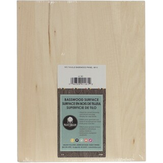 Basswood Rectangle Panel8inX10in