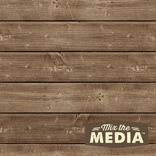 Mix The Media Wooden Plank Plaque8inX8in
