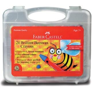 Brilliant Beeswax Crayons In Storage Case 24/Pkg