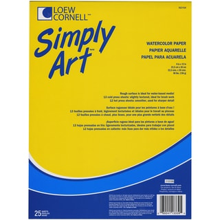 Simply Art Watercolor Paper Pad 9inX12in25 Sheets