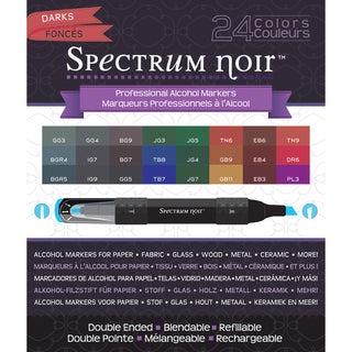 Spectrum Noir Alcohol Markers 24/PkgDarks