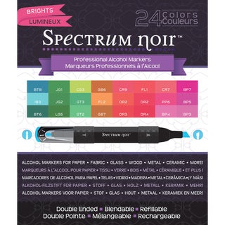 Spectrum Noir Alcohol Markers 24/PkgBrights