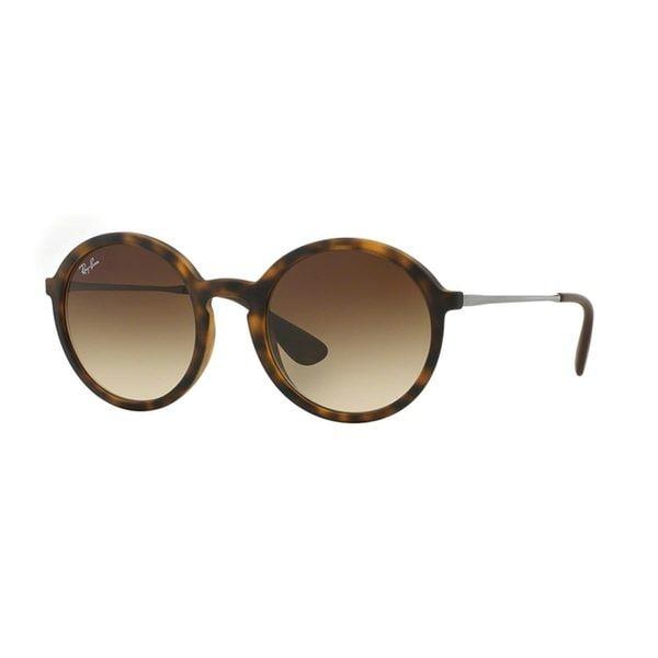 Ray Ban Unisex RB 4222 865/13 Dark Rubber Havana Round Sunglasses