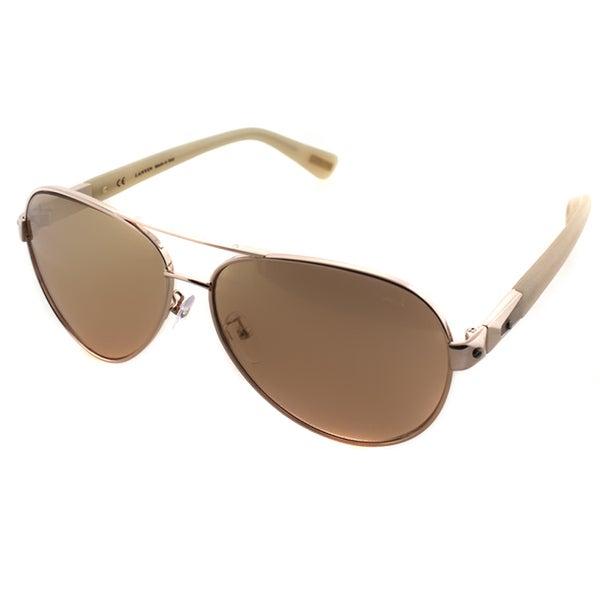 b92ca4fe34a4 Shop Lanvin Unisex SLN 047 A32G Rose Gold Metal Aviator Sunglasses ...