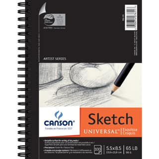 Canson Universal Spiral Sketch Book 5.5inX8.5in100 Sheets|https://ak1.ostkcdn.com/images/products/10547842/P17627668.jpg?impolicy=medium