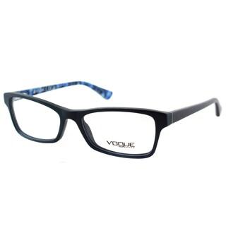 Vogue Eyewear Women's VO 2886 2225 Matte Blue Plastic Cat Eye Eyeglasses