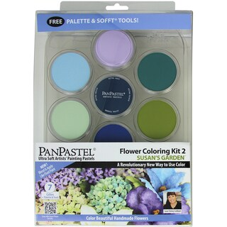 PanPastel Ultra Soft Artist Pastel Set 9ml 7/PkgFlower Coloring #2 Susan's Garden