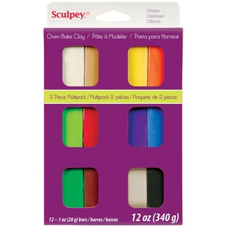 Sculpey III Polymer Clay Multipack 1oz 12/PkgClassics
