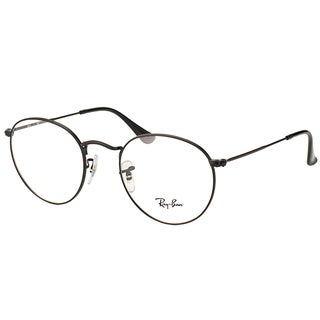Ray Ban Unisex RX 3447V 2503 50mm Matte Black Round Metal Eyeglasses