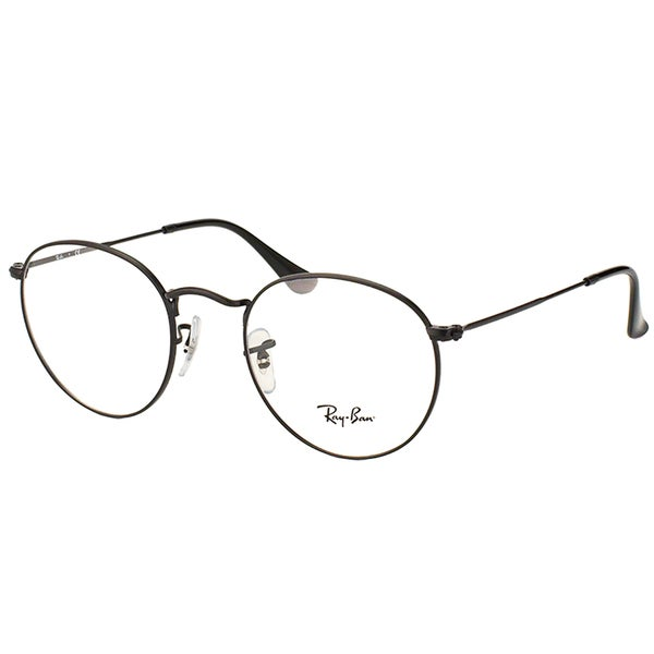 79f1257e953 Ray Ban Unisex RX 3447V 2503 50mm Matte Black Round Metal Eyeglasses