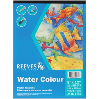 Watercolor Paper Pad 9inX12in35 Sheets