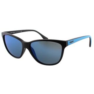 Vogue Eyewear Women's VO 2729S W44/55 Matte Black/ Transparent Blue Plastic Cat Eye Sunglasses