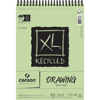 Canson XL Recycled Spiral Drawing Paper Pad 9inX12in60 Sheets