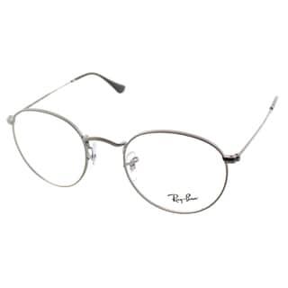 Ray Ban Unisex RX 3447V 2620 50mm Matte Gunmetal Round Metal Eyeglasses