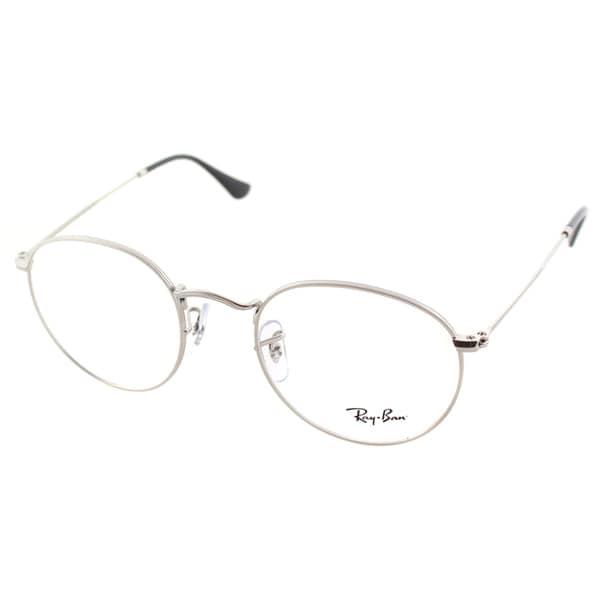 d38b9986fd3 Ray Ban Unisex RX 3447V 2538 50mm Matte Silver Round Metal Eyeglasses