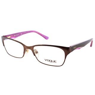 Vogue Eyewear Women's VO 3918 934 Brushed Brown Metal Rectangle Eyeglasses