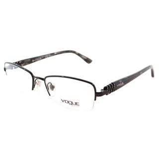 Vogue Eyewear Women's VO 3813B 352 Black Metal Semi-Rimless Eyeglasses