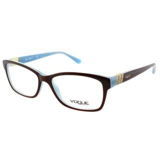 Vogue Eyewear Women's VO 2765B 2011 53mm Light Brown On Opal Azure Plastic Square Eyeglasses
