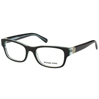 Michael Kors Ravenna Women's MK 8001 3001 Black On Blue Crystal Plastic Rectangle Eyeglasses