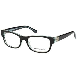 Michael Kors Ravenna Women's MK 8001 3001 Black On Blue Crystal Plastic Rectangle Eyeglasses|https://ak1.ostkcdn.com/images/products/10547903/P17627702.jpg?impolicy=medium