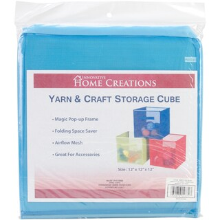 Yarn & Craft Storage Cube 12inX12inX12inSky Blue